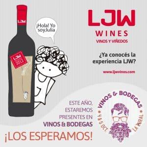 LJW Vinos & Viñedos estará presente en Vinos & Bodegas 2018 en La Rural, Buenos Aires