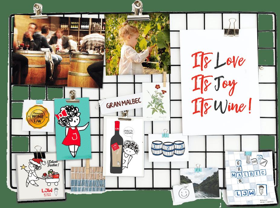 LJW Moodboard - Its Love Its Joy Its Wine